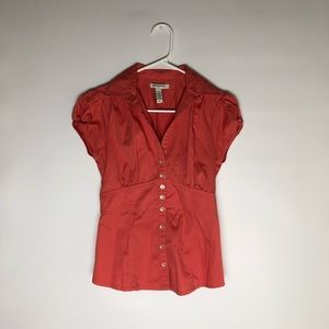 Women's Coral button up blouse